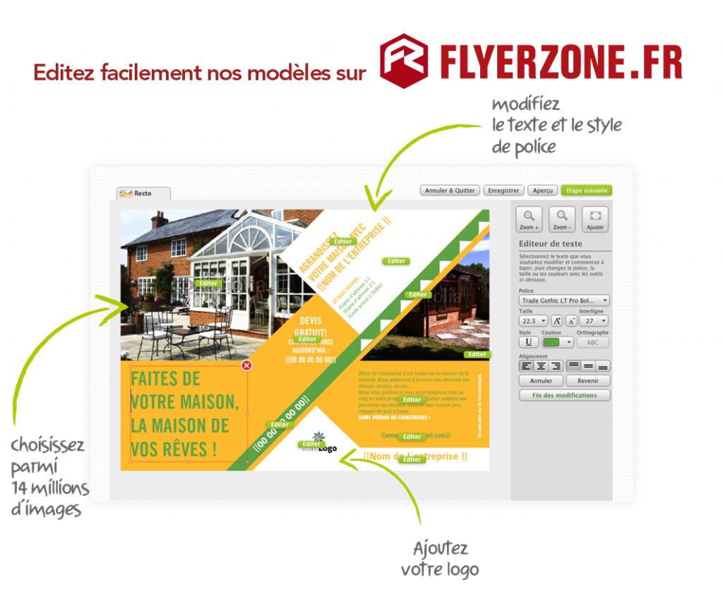 Flyers agents immobiliers personnaliser for Agents immobiliers