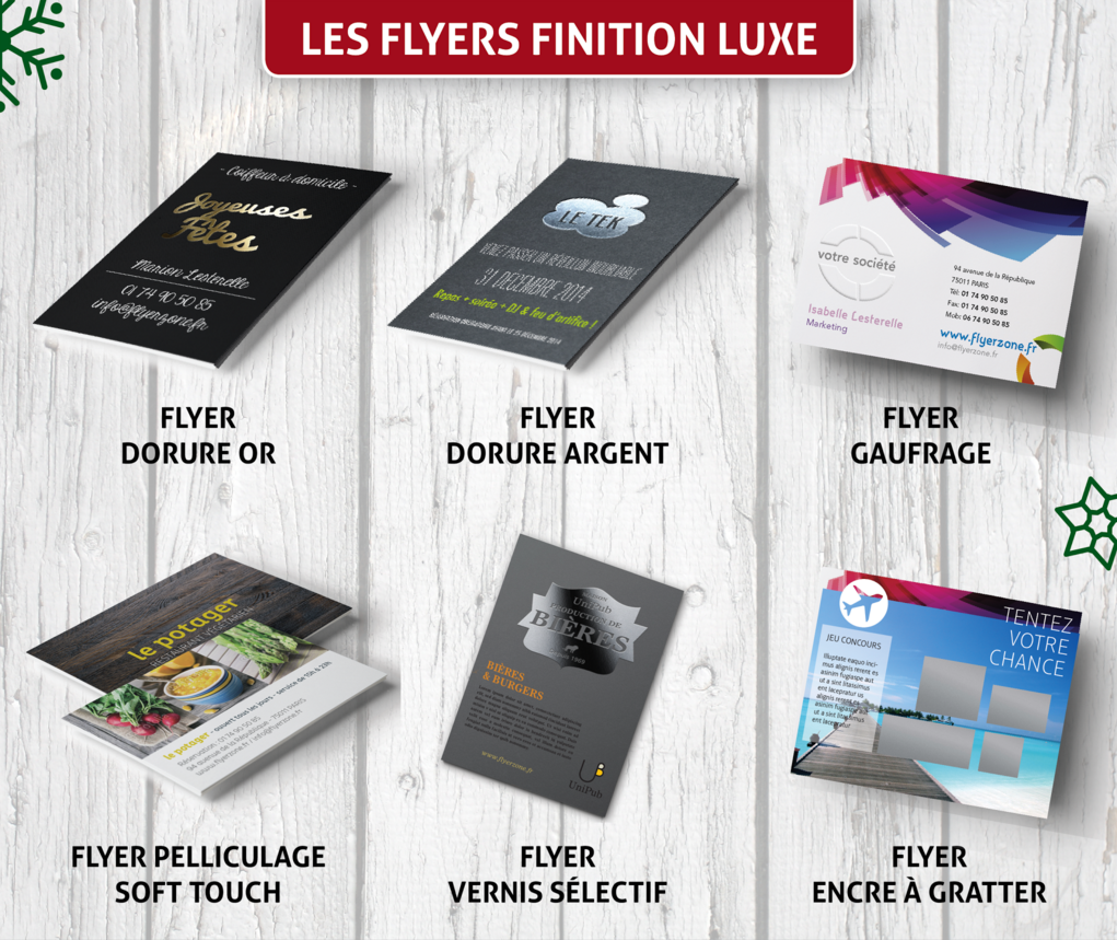 Flyers finition luxe